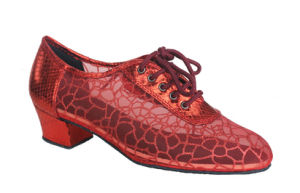 Ladies Red Mesh Upper Salsa/Latin Dance Practice Shoes pictures & photos