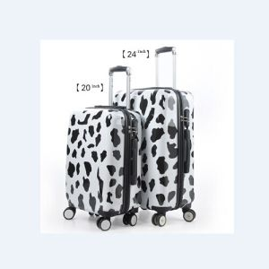 White PC Luggage Set with Dots pictures & photos