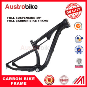 "29"" Dual Suspension MTB Frameset Full Suspension China Mountain Carbon pictures & photos"