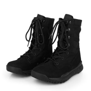 China Good Quality Black Suede Army Combat Boots Military Tactical ...