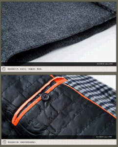 Medium Long Men′s Padded Fashion Wool Collar-Stand Coat pictures & photos