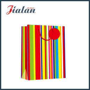 Every Day Series with Vertical Stripes Shopping Gift Paper Bag pictures & photos