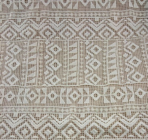 Aztec Patterned Chemical Lace Fabric (BLF781)