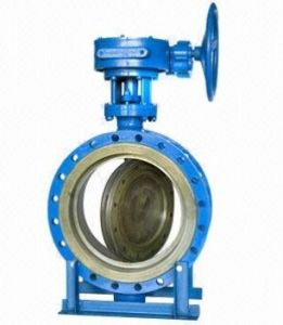 Double Eccentric Worm Gear Flange Butterfly Valve pictures & photos