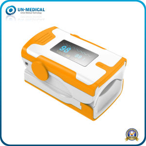 New-Ce Approved Fingertip Pulse Oximeter with Light Adjust Function (white green) pictures & photos
