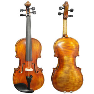 Satin Yellow Brown Nice Flame Maple Stradivarius Advanced Violin pictures & photos