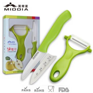 Ceramic Knife+Peeler Set for Fruit and Vegetable pictures & photos