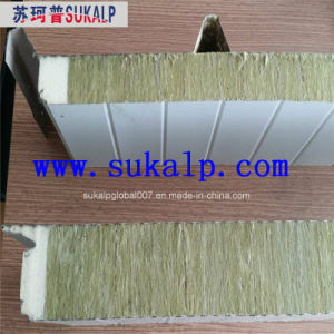 Rock Wool Sandwich Panel with Both Sides PU pictures & photos