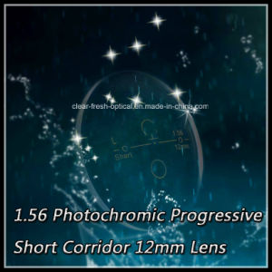 1.56 Photochromic Progressive Short Corridor 12mm Lens pictures & photos