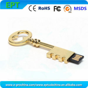Metal USB Key Shape Drive Memory Stick USB Flash Disk (EM012) pictures & photos