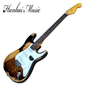 Hanhai Music/St Style Electric Guitar with Retro Body and Neck pictures & photos