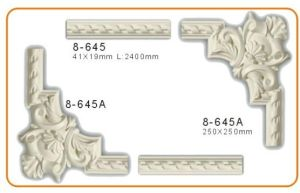 Polyurethane Decorative Crown Moulding Corner Blocks Indoor Used pictures & photos
