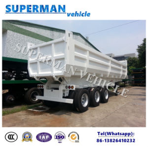 3 Axle 25-28cbm U Shape End Dump Tipper Semi Trailer pictures & photos