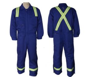 Flame Resistant Coverall Made of 100%Polyester (DFW1007) pictures & photos