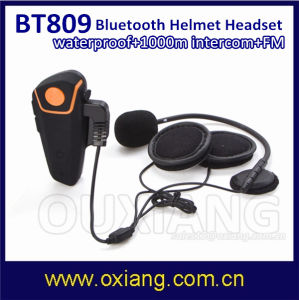 Waterproof FM Bt Interphone Bluetooth 1000m Intercom Motorcycle Helmet Headset with GPS Connection pictures & photos