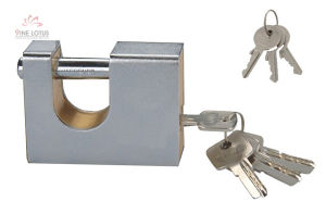 High Quality Steel Shell Armored Rectangular Brass Padlock pictures & photos