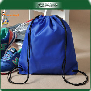 Wholesale Hot Sell Blue Cheap Drawstring Backpacks with Eyelet pictures & photos