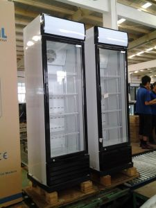 Three Door Upright Beverage Fridge Chiller Display Refrigerator Cooler pictures & photos