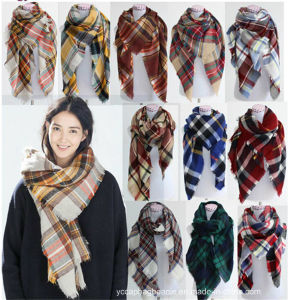 New Style Trendy Arge Winter Square Scarf pictures & photos