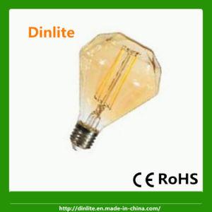 High lumen D110 6W diamond shape LED filament bulb pictures & photos
