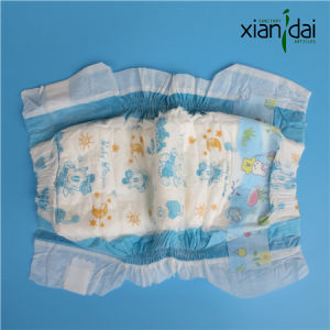 Disposable Baby Diaper in Soft Surface and Super Absorbent Core Xd-J#048