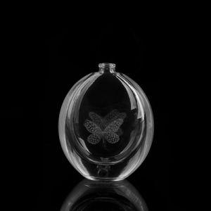 Circular Perfume Bottle with Laser Logo pictures & photos