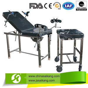 Stainless Steel Movable Gynaecology Bed (ISO/CE/FDA) pictures & photos