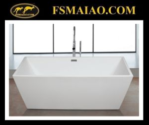 Thin Edge Acrylic Bathroom Bathtub Rectangle Glossy White (9016) pictures & photos