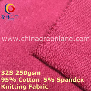 Cotton Spandex Knitted Fleece Fabric for Garment Top (GLLML402) pictures & photos