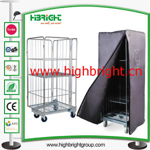 Demountable Roll Container Cart with Plastic Base for Warehouse pictures & photos