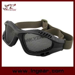 039 Airsoft Paintball No Fog Metal Mesh Goggles for Outdoor Sport pictures & photos