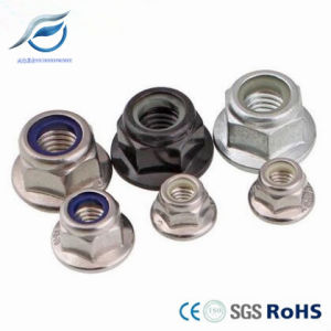Stainless Steel Hex Flange Nylon Lock Nut pictures & photos
