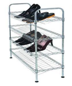 DIY Chrome Plated Metal Frame Shoe Rack Shelf (CJ-B1112) pictures & photos