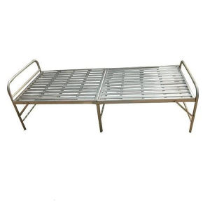 Single Cheap Design Folding Iron Metal Bed