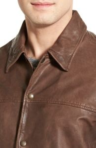 OEM Latest Custom Design Bulk Leather Shirt Jacket for Men pictures & photos