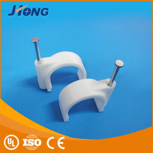 PE Steel Nail Circle Cable Clip pictures & photos