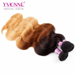 Three Tone Ombre Body Wave Peruvian Remy Human Hair pictures & photos