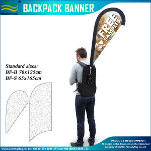Custom Made Polyester Fabric Backpack Flag (M-NF04F06096) pictures & photos