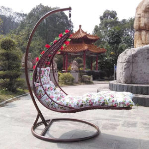 New Design Patio Wicker Hanging Swing Chair for Comfort Outdoor Living pictures & photos