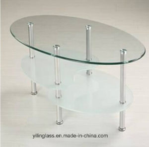 Tempered Clear Oval Glass Table pictures & photos