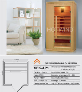 2017 Hotwind Hemlock Far Infrared Sauna for 1person-Ap1 pictures & photos