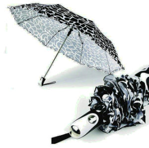 Water Ripple Windproof 3 Fold Automatic Umbrella (YS-3FA22083902R) pictures & photos