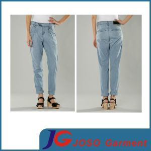 Girl Blue Jeans Chino Sport Style Twill Pants (JC1406) pictures & photos