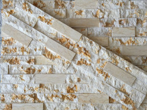 Sunny Biege Marble and Antacid Classic Ledge Culture Stone Feature Wall pictures & photos