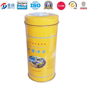Round Tea Plant Can Tea Tin Package Tin Box pictures & photos