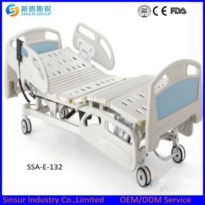Electric Three Shake Hospital Bed Plastic Side Rail pictures & photos