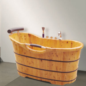 Bathroom Soaking Wooden Bathtub Hot Tub (NJ-039) pictures & photos