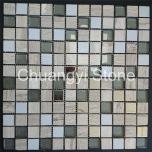 Glass Mix Marble Stone Mosaic Tile for Home Decoration pictures & photos