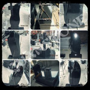 Black Granite Tombstone for Europe Styles pictures & photos