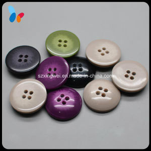 Wholesale 30mm Fancy Sewing Resin Suit Button with 4 Hole pictures & photos